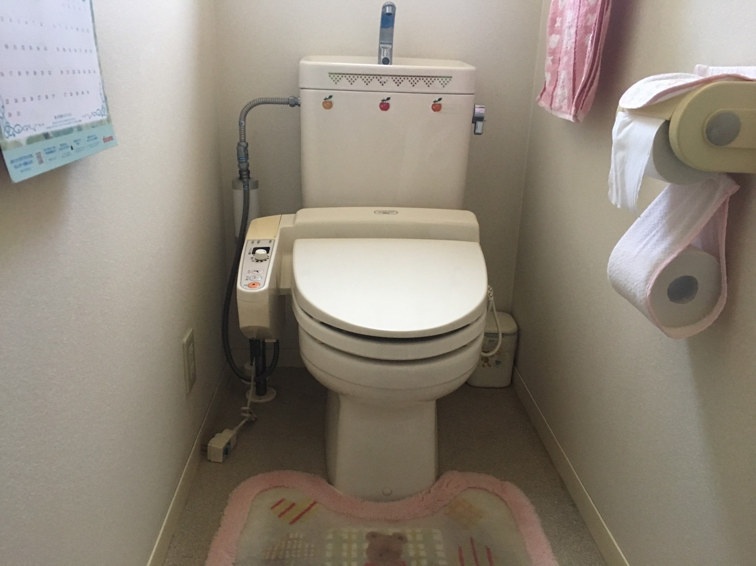 洗浄便座の操作部分が妨げとなり、掃除がしずらい。<br /> 便器を取り替えるときに、カウンターもつけたい。